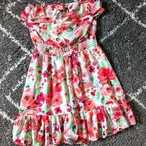 Super Pretty Floral Strapless Dress sz:4